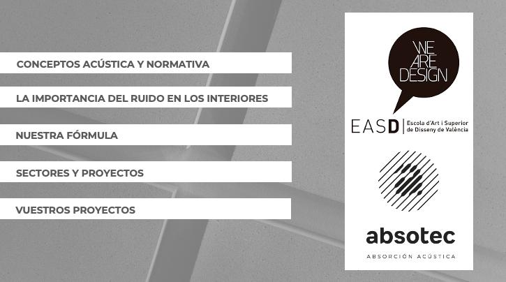 charla acondicionamiento acustico EASD Valencia